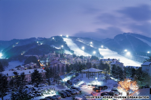 Skiing in Korea